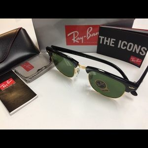 Ray Ban Clubmaster Sunglasses NEW